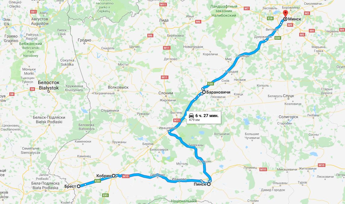 Грузоперевозка Брест - Минск